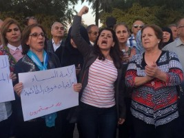 ناشطات عراقيات يهتفن ضد تعديل قانون الاحوال الشخصية