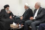روحاني مجتمعًا في النجف مع السيستاني