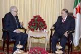 الأخضر الإبراهيمي خلال لقاء مع الرئيس عبدالعزيز بوتفليقة