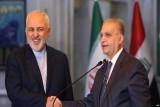وزير الخارجية الإيراني محمد جواد ظريف ونظيره العراقي محمد الحكيم