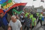 مناهضون للمشير خليفة حفتر يتظاهرون في طرابلس في الثالث من ايار/مايو 2019