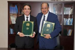 وزير الهجرة المغربي ورئيس جامعة وجدة
