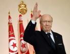 الرئيس التونسي الباجي قايد السبسي في 14 كانون الثاني/يناير 2015