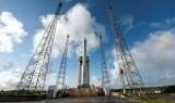 صاروخ «فيغا» في قاعدة كورو الفضائية في غويانا الفرنسية، 11 فبراير 2015 (أ ف ب)
