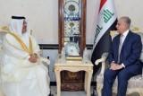 وزير الخارجية العراقي ملتقيًا سفير البحرين