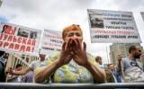 من تظاهرة في وسط موسكو بتاريخ 16 حزيران/يونيو 2019 دفاعاً عن حرية التعبير وحرية الصحافة