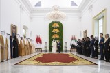 محمد بن زايد والرئيس الأندونيسي يشهدان مراسم تبادل اتفاقيات بين البلدين