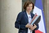 وزيرة الجيوش الفرنسية فلورانس بارلي أمام قصر الإليزيه في باريس في 24 يوليو 2019