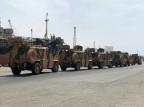 قافلة مدرعات عسكرية تابعة لقوات حكومة الوفاق الوطني نشرت صورتها صفحة عملية