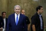 رئيس الوزراء الإسرائيلي بنيامين نتانياهو يصل لحضور المجلس الوزاري الأسبوعي في القدس