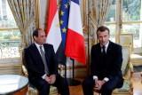الرئيس الفرنسي مستقبلا نظيره المصري في الاليزيه - ارشيفية