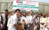 مساعدات إماراتية للمتضررين من السيول في اليمن