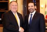 رئيس الحكومة اللبنانية سعد الحريري ومايك بومبيو