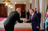 عاهل الأردن عند تسلّمه أوراق اعتماد السفير الإسرائيلي في عمان أمير ويسبرود - ارشيفية