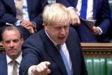 صورة من بث البرلمان البريطاني لجلسة مجلس العموم في 25 يوليو 2019 وتظهر بوريس جونسون
