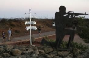 تمثال اسرائيلي لجندي في منطقة الجولان 17 آب/أغسطس 2019