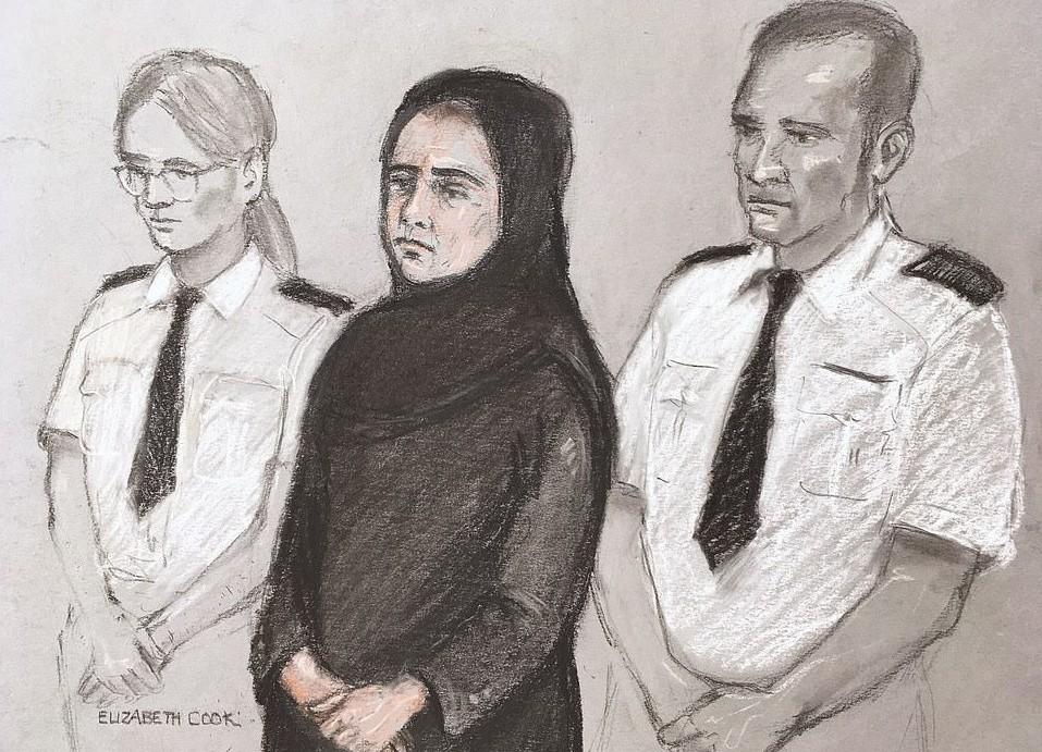 صورة صفية شيخ امام المحكمة