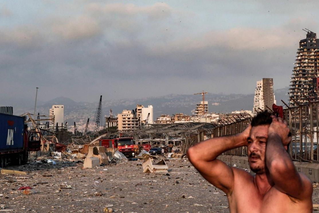 صدمة أمام هول الانفجار في بيروت الثلاثاء