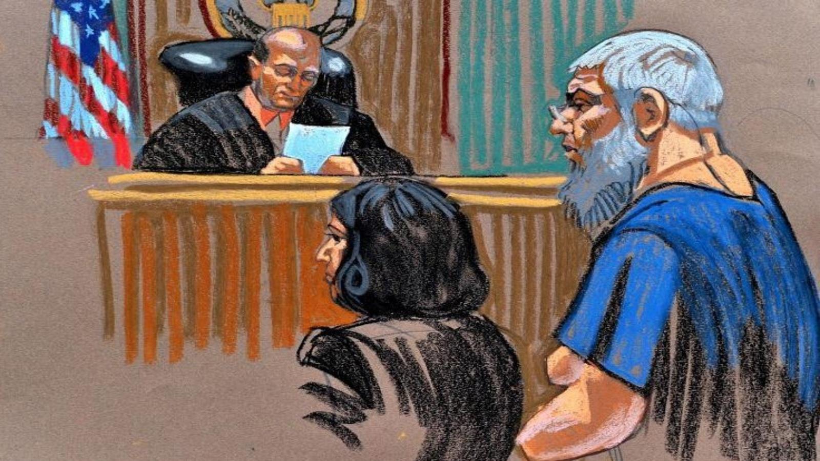 أبو حمزة أمام قاض أميركي - أرشيف (أ ف ب)
