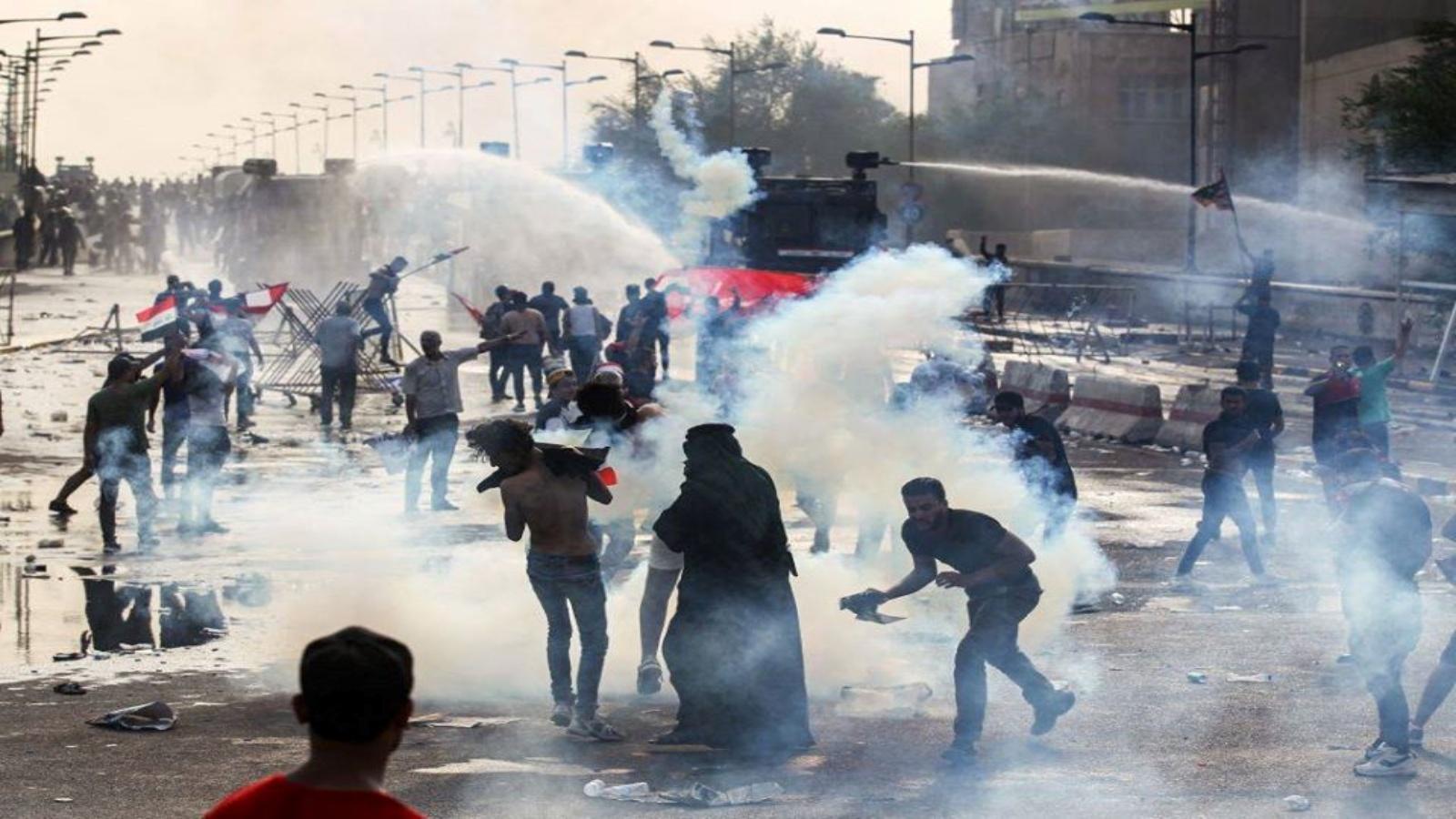 مواجهات بين المتظاهرين والقوات الامنية العراقية