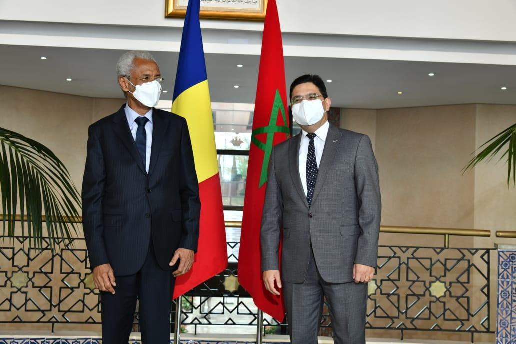 وزير خارجية المغرب لدى استقباله نظيره التشادي اليوم في الرباط