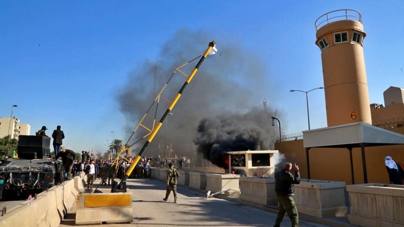 هجوم صاروخي ضد السفارة الاميركية في العراق