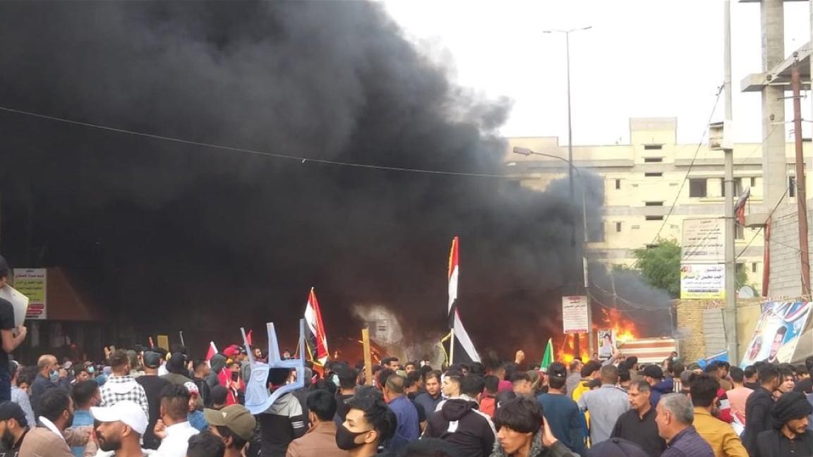 انصار الصدر يهاجمون بالرصاص الحي الناشطين في الناصرية عاصمة محافظة ذي قار الجنوبية