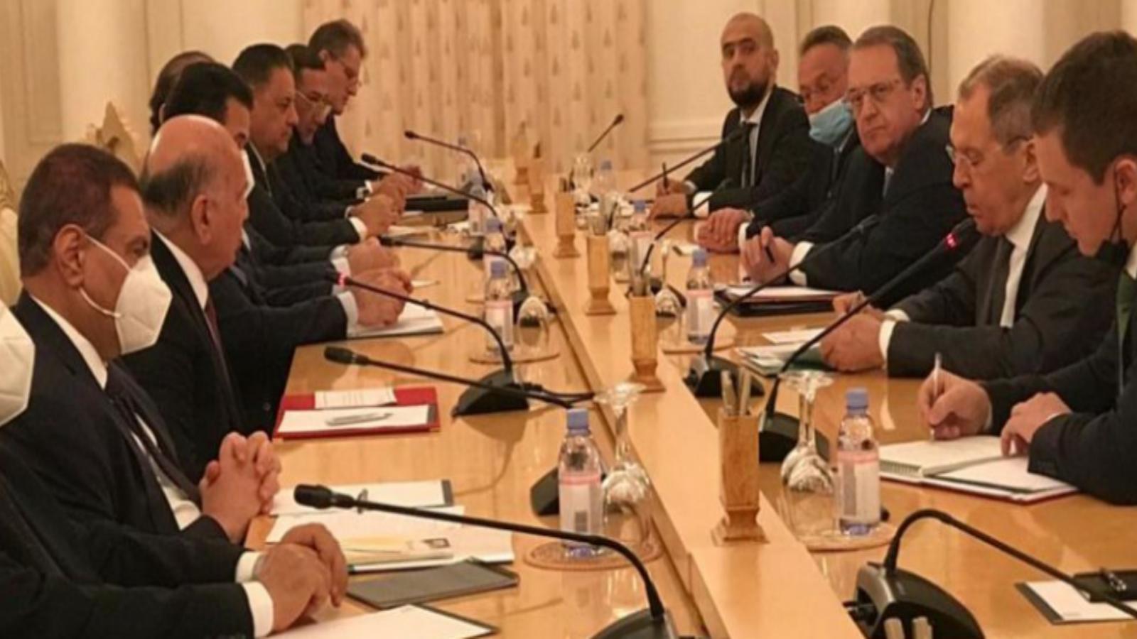 المباحثات العراقية الروسية برئاسة وزيري خارجية البلدين في موسكو اليوم