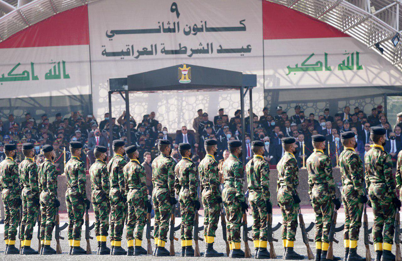 الكاظمي خلال الاحتفال السبت بالعيد 99 لتأسيس الشرطة العراقية