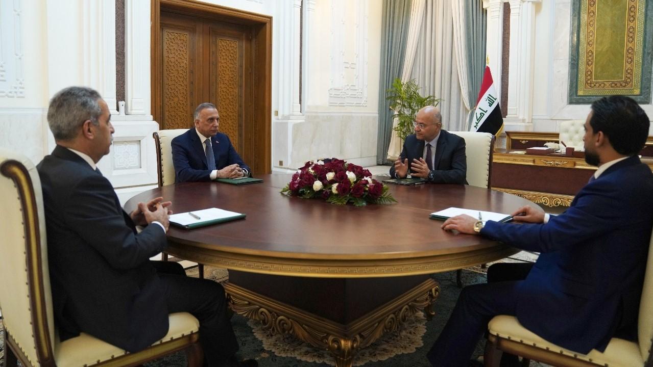 الرئاسات العراقية للجمهورية والحكومة والبرلمان والقضاء خلال اجتماعها الثلاثاء