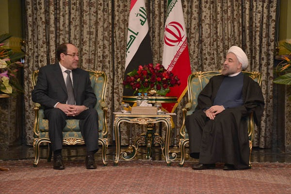 المالكي مجتمعا في طهران مع الرئيس الايراني روحاني