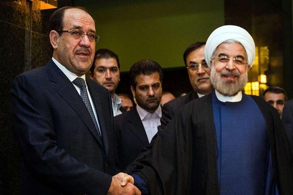 المالكي خلال لقائه في طهران مع الرئيس الايراني حسن روحاني