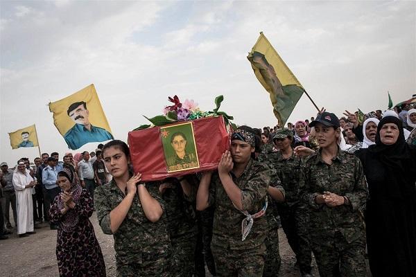 تشييع مقاتلة كردية