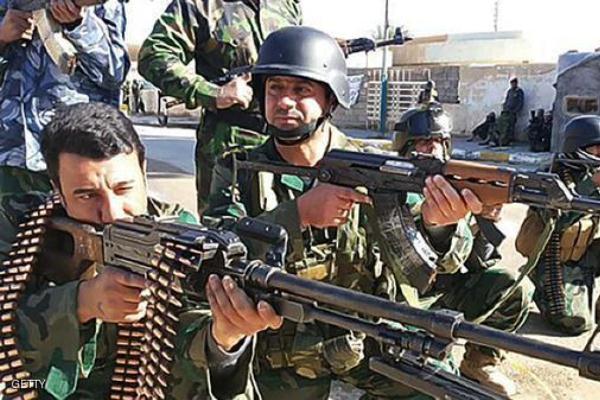 قوات عراقية في أحد شوارع الرمادي