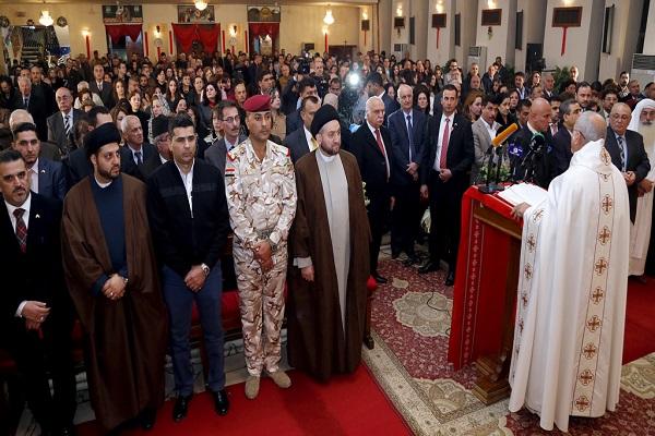 قداس المسيحيين في بغداد لمناسبة اعياد الميلاد
