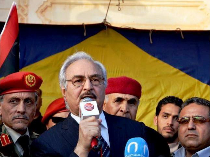 قائد القوات البرية السابق في ليبيا اللواء خليفة حفتر