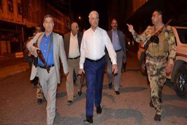 أثيل النجيفي محافظ نينوى يتفقد الأوضاع الأمنية في المحافظة