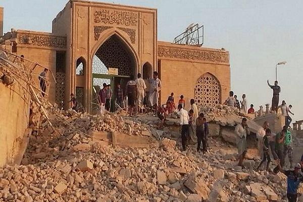 تدمير مرقد النبي يونس في الموصل
