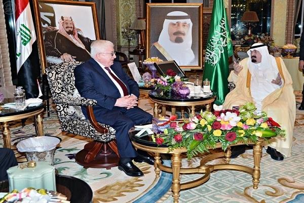 معصوم مجتمعا مع العاهل السعودي الملك عبدالله السعودي