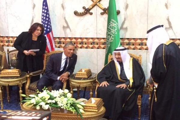 العاهل السعودي يستقبل أوباما