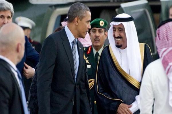 الملك سلمان وأوباما في لقاء سابق جمع بينهما - أ ف ب