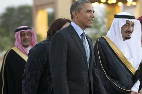 صورة أرشيفية من لقاء سابق بين الملك سلمان وأوباما