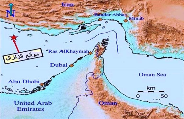 صورة تقريبية للمكان الذي يمكن أن يقع فيه زلزال