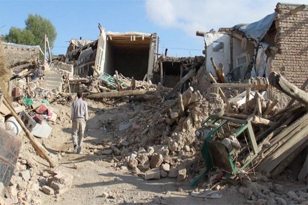 جانب من الدمار الذي خلفه الزلزال