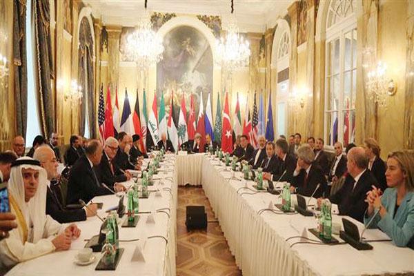 جانب من اجتماع فيينا السابق حول سوريا