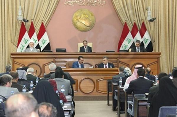 مجلس النواب العراقي لدى تصويته على موازنة البلاد العامة 2016