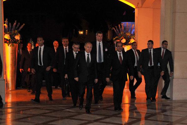 تستمر زيارة بوتين للقاهرة يومين