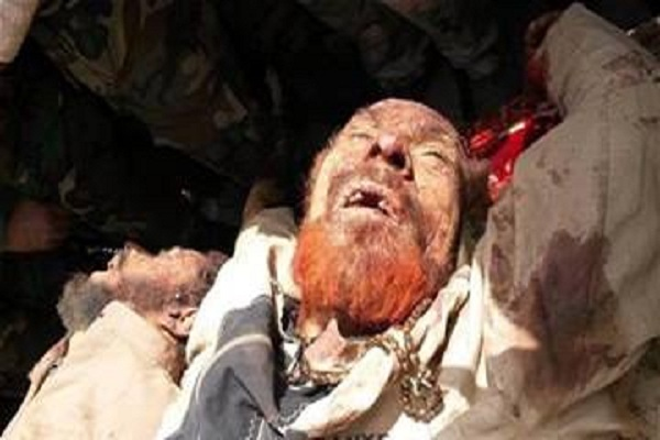 جثة عزة الدوري عقب مقتله