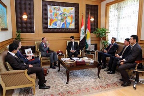قوباد طالباني مع السفير الالماني في العراق