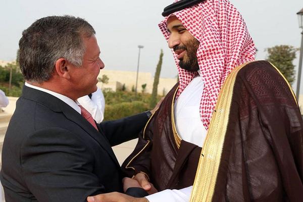 الملك عبدالله الثاني وولي ولي العهد السعودي الأمير محمد بن سلمان
